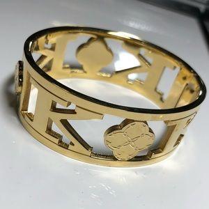 "C. Wonder gold ""K"" initial gold plate NWOT"